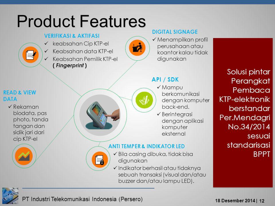 Product Features DIGITAL SIGNAGE. Menampilkan profil perusahaan atau koantor kalau tidak digunakan.