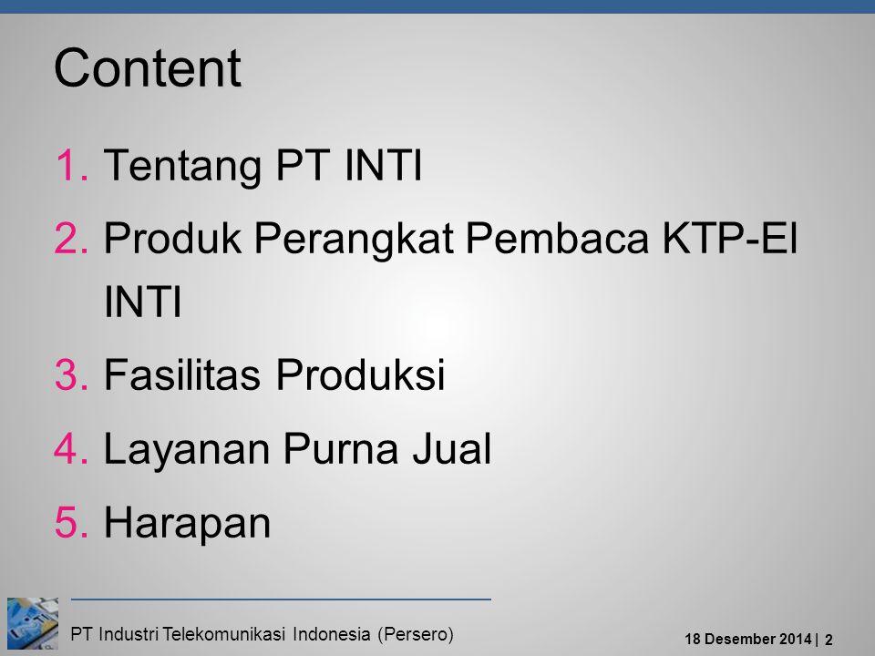 Content Tentang PT INTI Produk Perangkat Pembaca KTP-El INTI