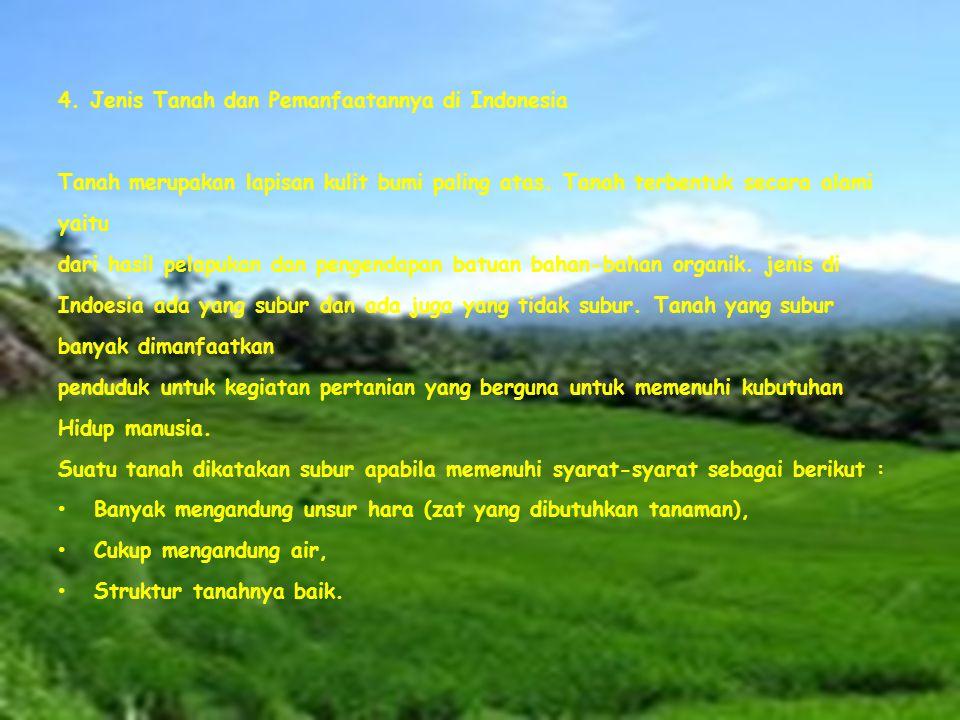 4. Jenis Tanah dan Pemanfaatannya di Indonesia