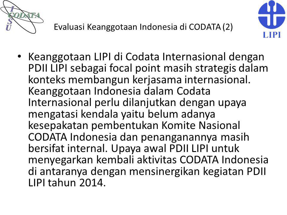 Evaluasi Keanggotaan Indonesia di CODATA (2)