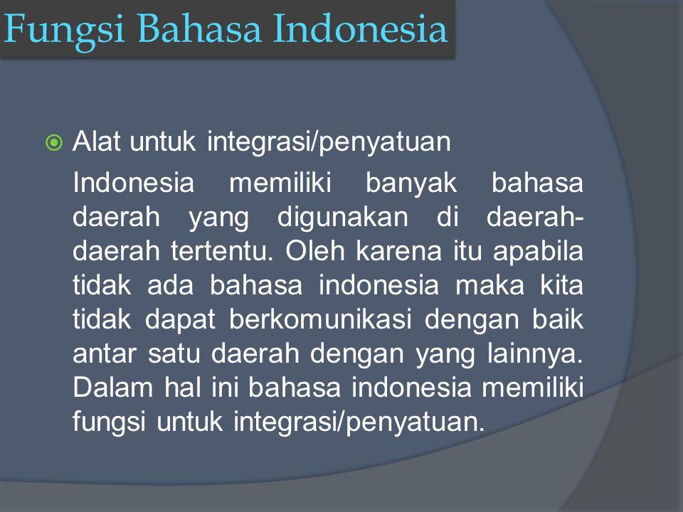Fungsi Bahasa Indonesia