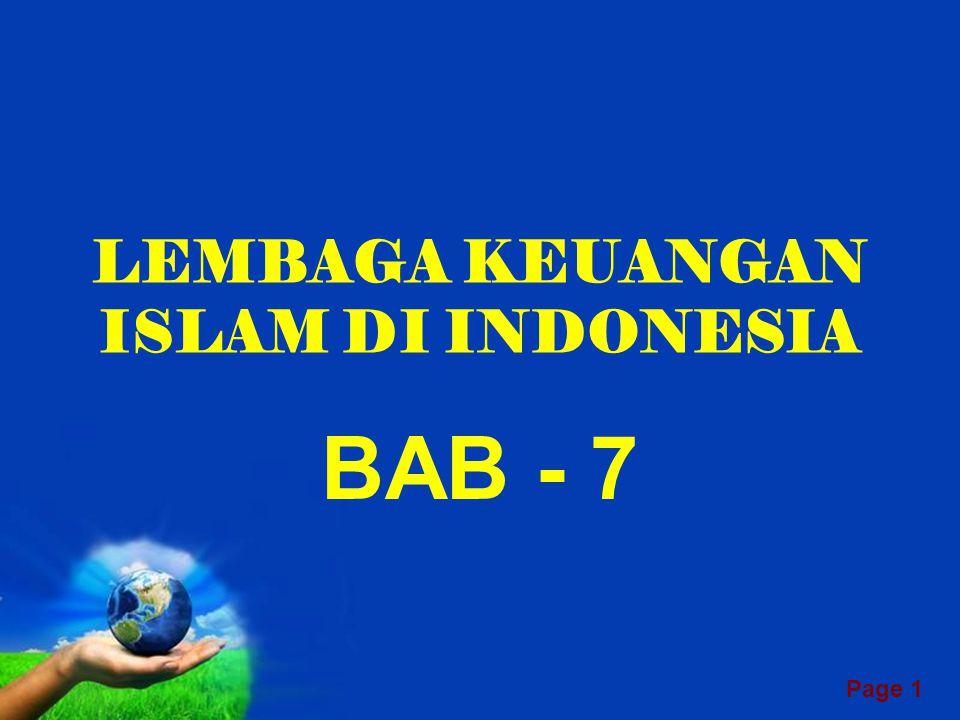 LEMBAGA KEUANGAN ISLAM DI INDONESIA