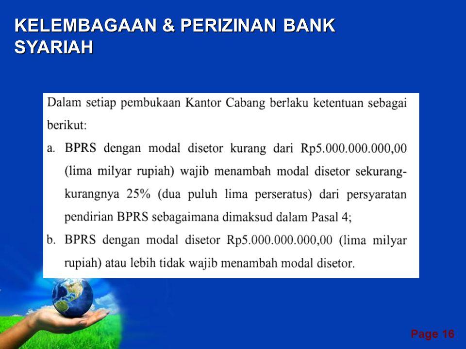 KELEMBAGAAN & PERIZINAN BANK SYARIAH