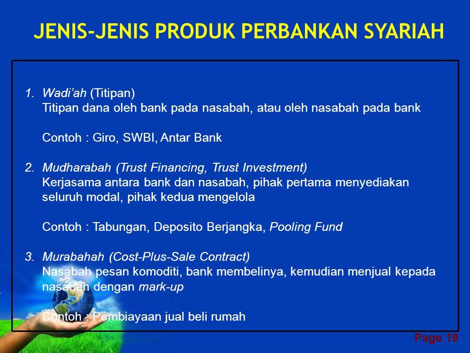 JENIS-JENIS PRODUK PERBANKAN SYARIAH