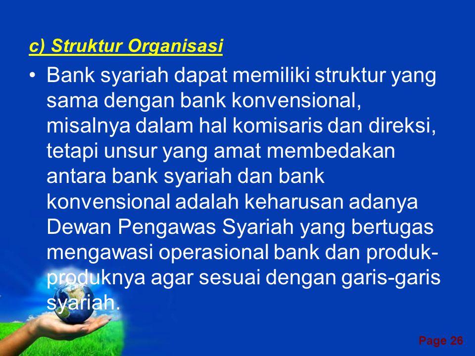 c) Struktur Organisasi