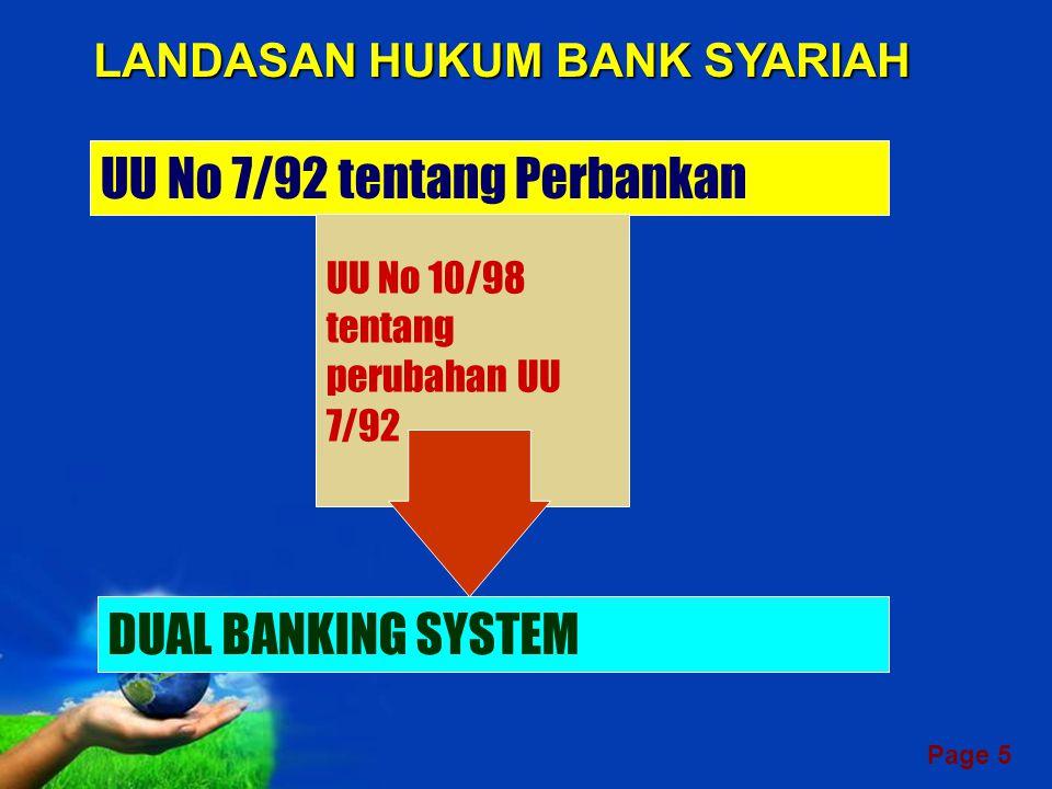 LANDASAN HUKUM BANK SYARIAH