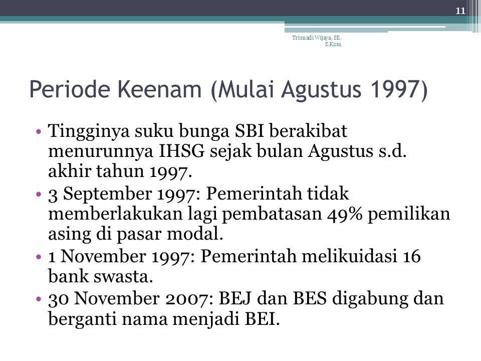 Periode Keenam (Mulai Agustus 1997)