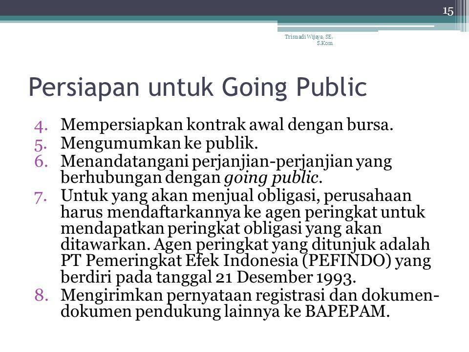 Persiapan untuk Going Public