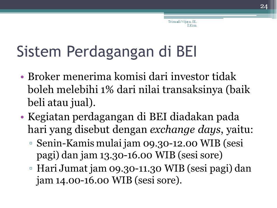 Sistem Perdagangan di BEI