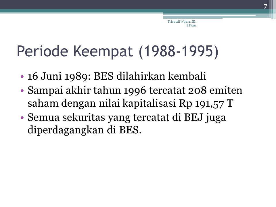 Periode Keempat (1988-1995) 16 Juni 1989: BES dilahirkan kembali