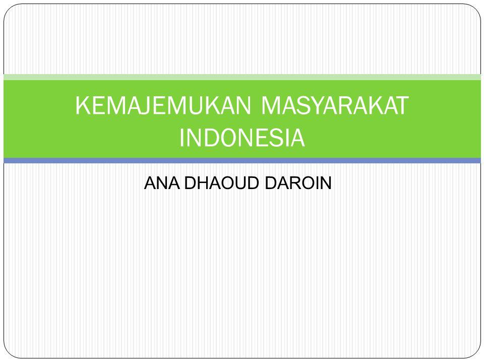 KEMAJEMUKAN MASYARAKAT INDONESIA