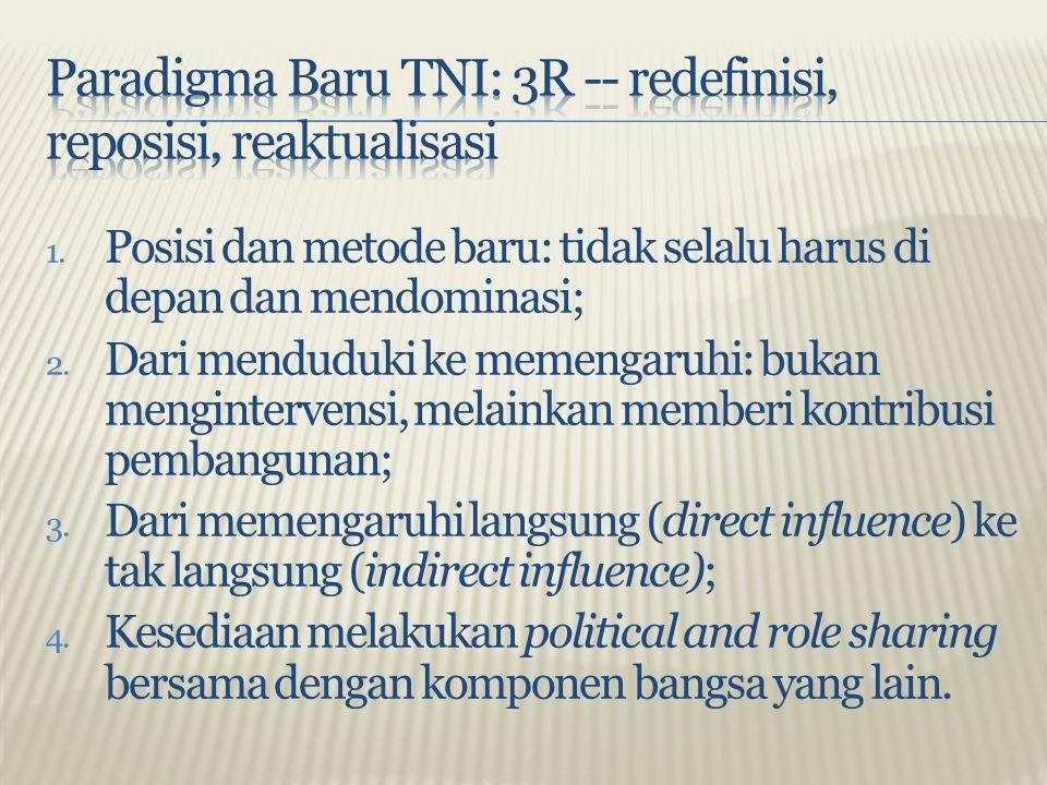 Paradigma Baru TNI: 3R -- redefinisi, reposisi, reaktualisasi