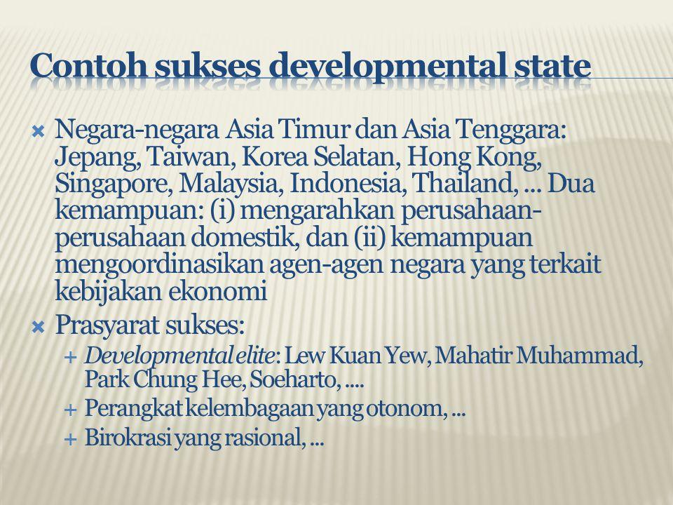 Contoh sukses developmental state