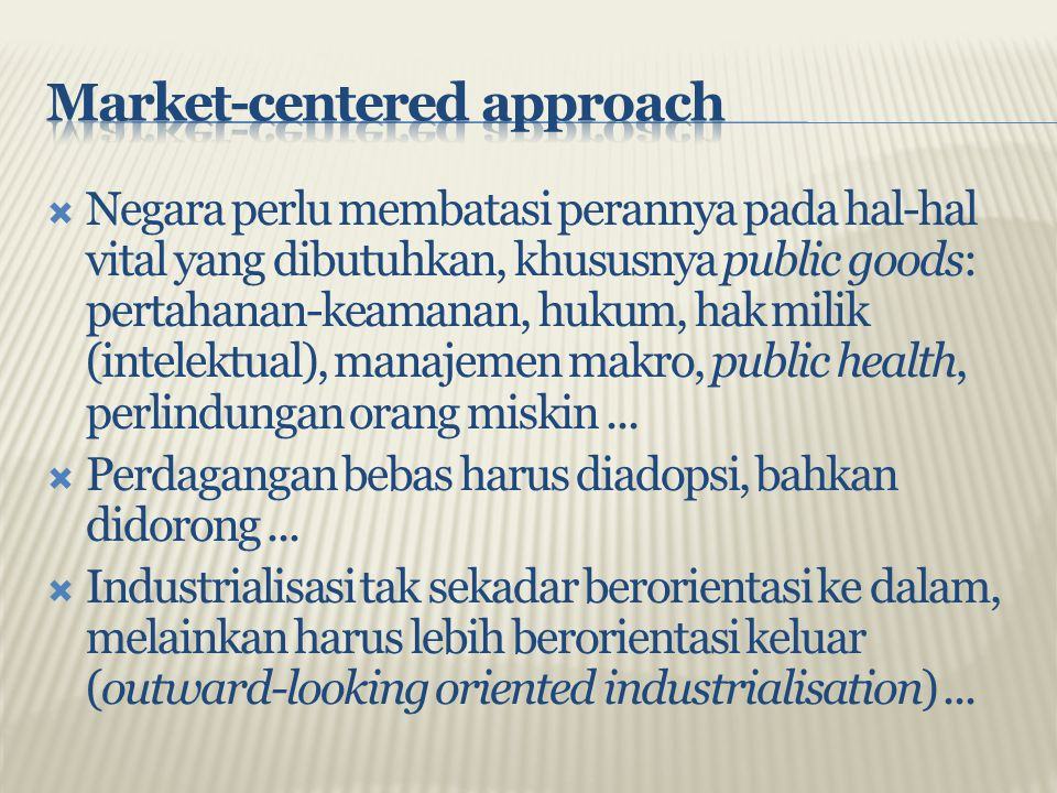 Market-centered approach