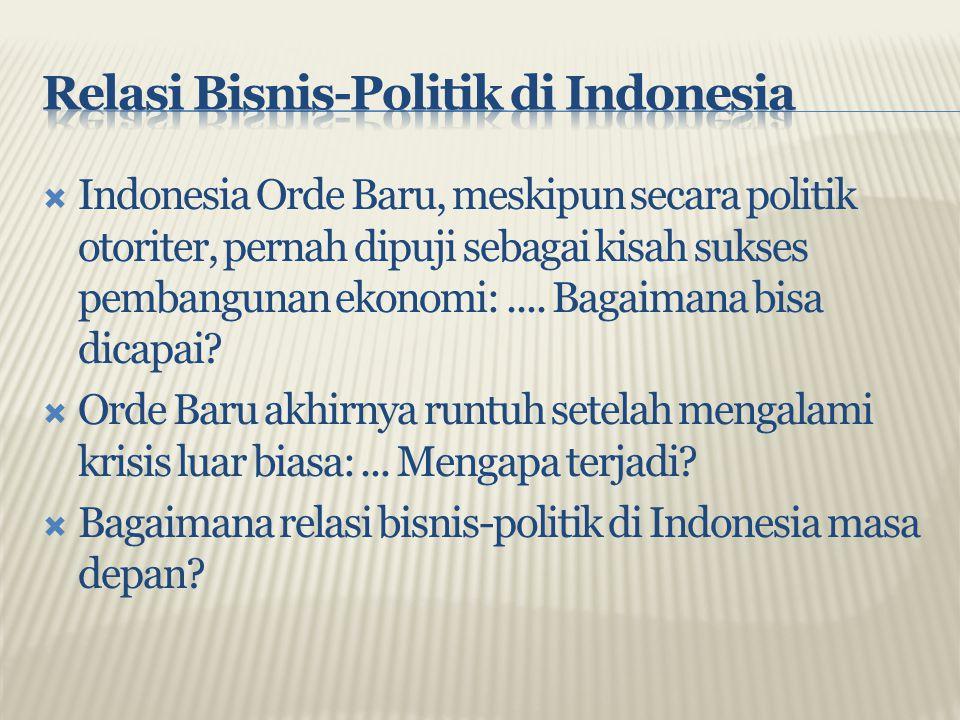 Relasi Bisnis-Politik di Indonesia