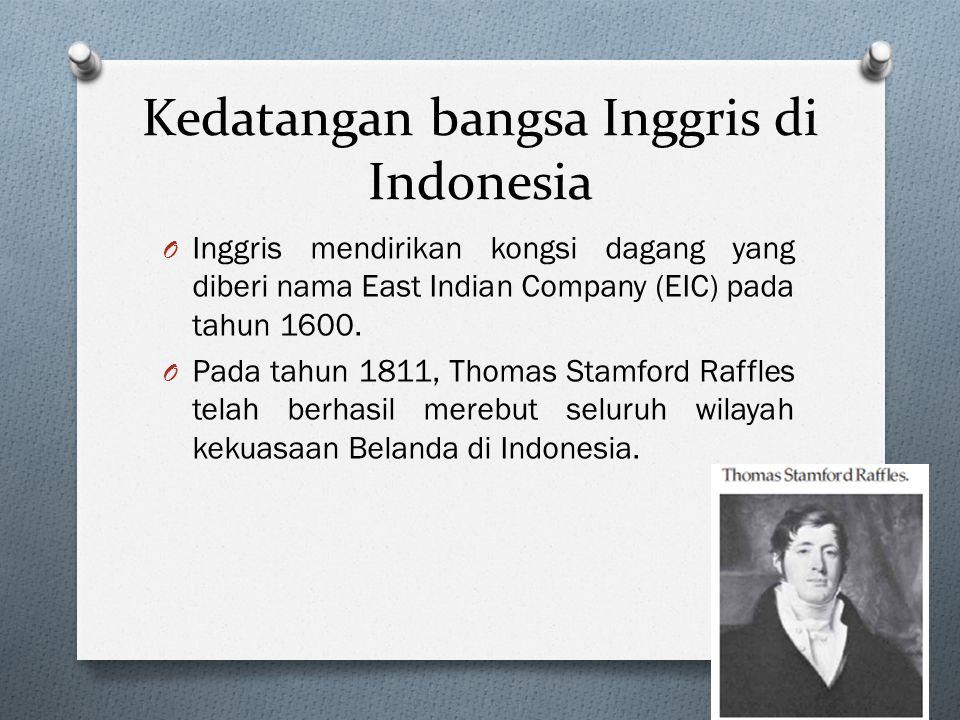 Kedatangan bangsa Inggris di Indonesia