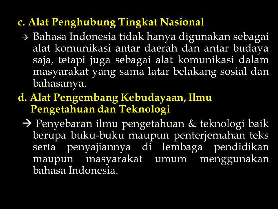 c. Alat Penghubung Tingkat Nasional