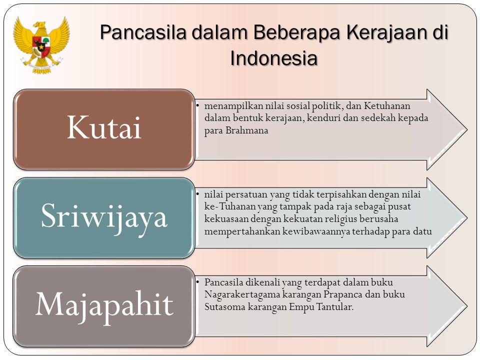 Pancasila dalam Beberapa Kerajaan di Indonesia