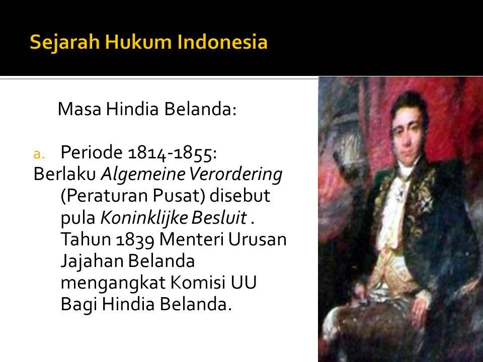 Sejarah Hukum Indonesia