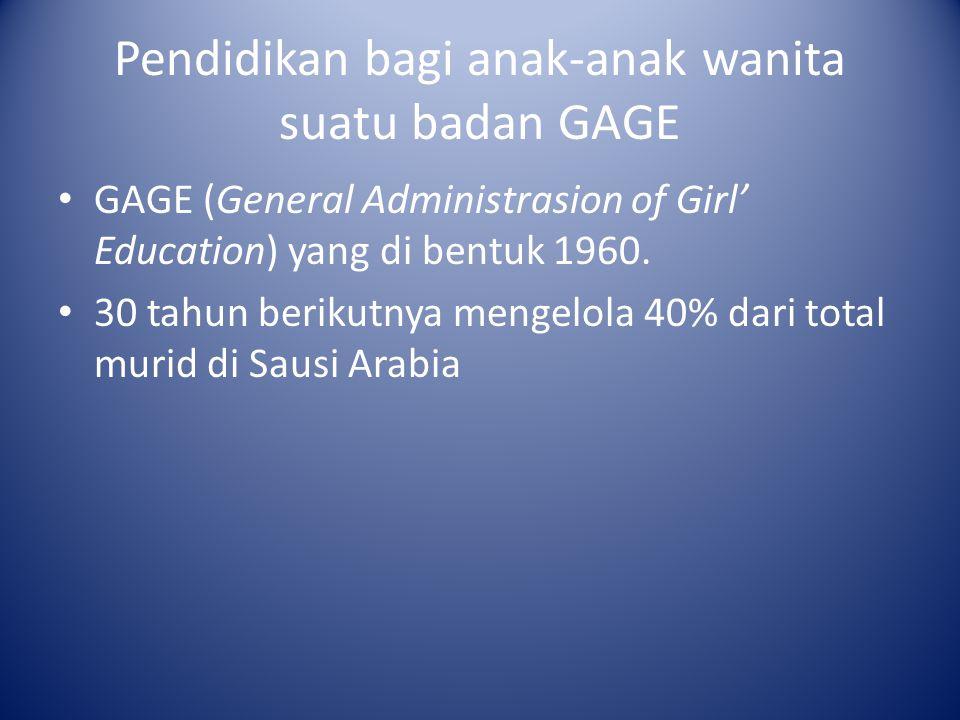 Pendidikan bagi anak-anak wanita suatu badan GAGE