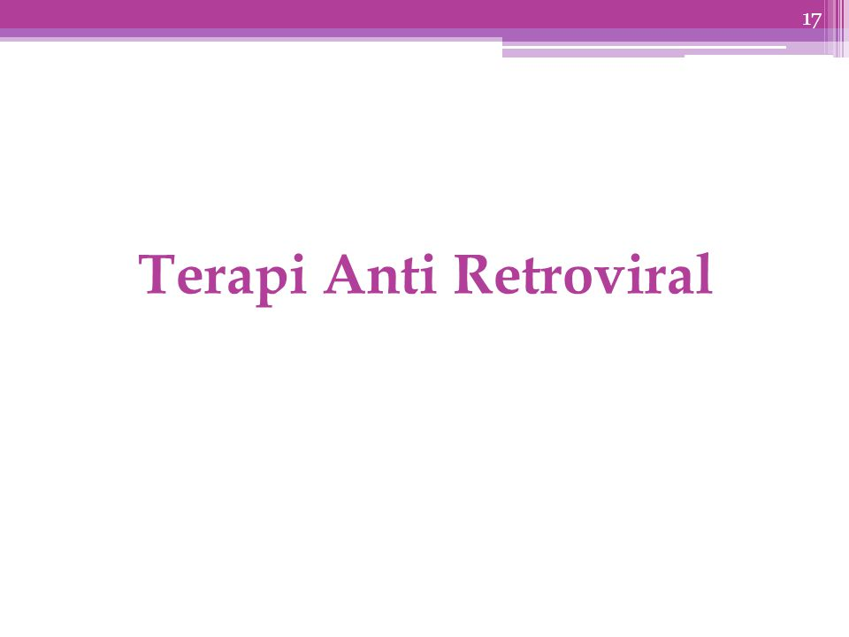Terapi Anti Retroviral