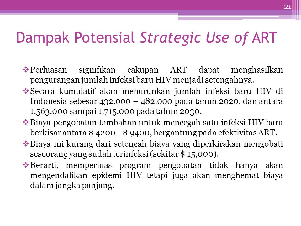 Dampak Potensial Strategic Use of ART