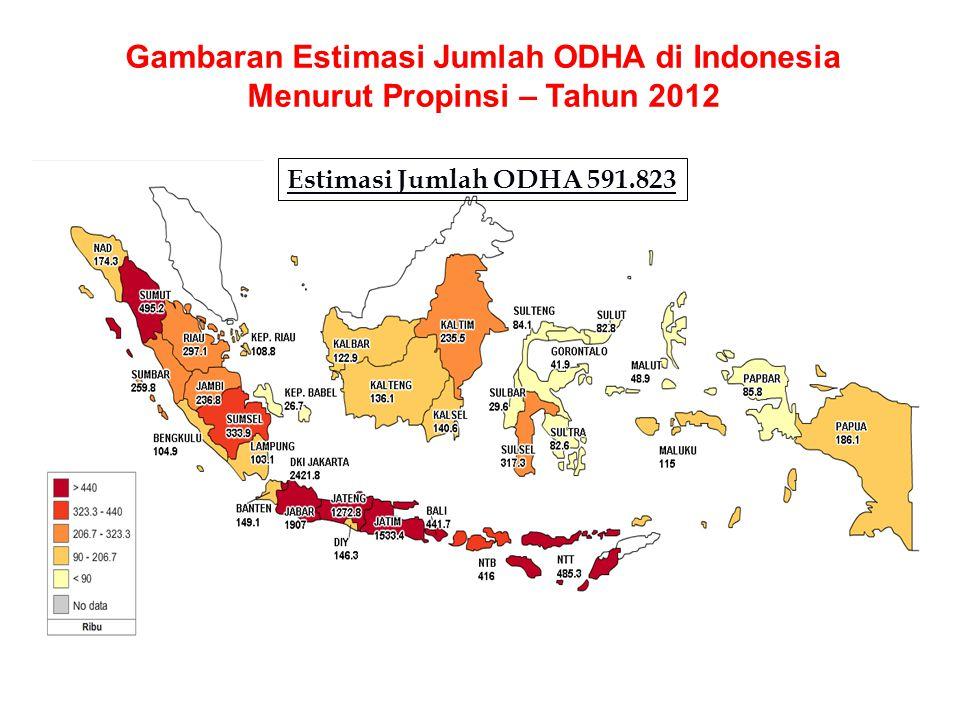 Gambaran Estimasi Jumlah ODHA di Indonesia Menurut Propinsi – Tahun 2012