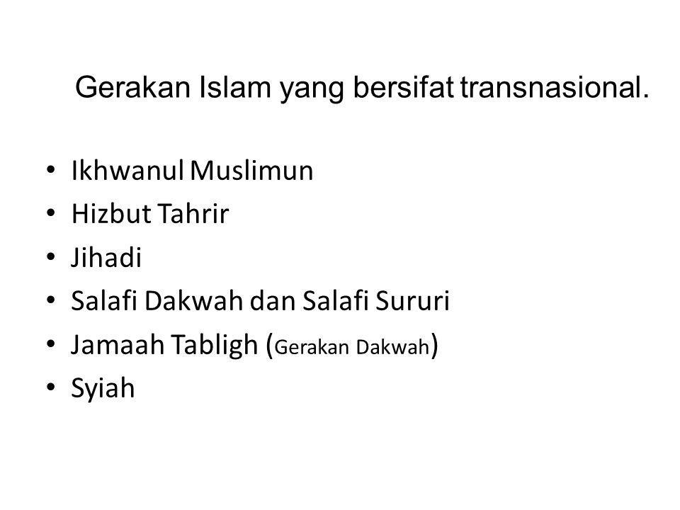 Gerakan Islam yang bersifat transnasional.
