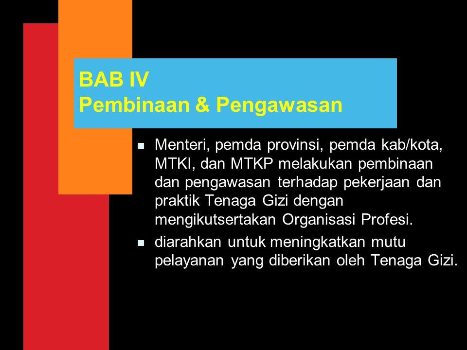 BAB IV Pembinaan & Pengawasan