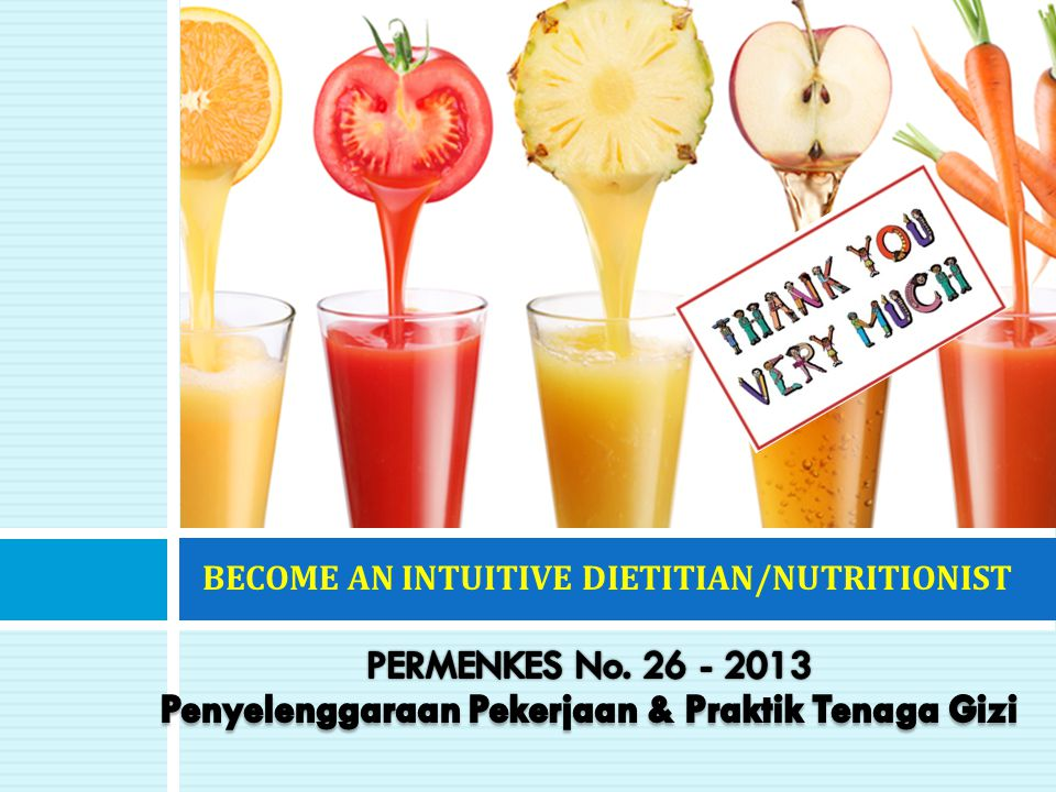 BECOME AN INTUITIVE DIETITIAN/NUTRITIONIST