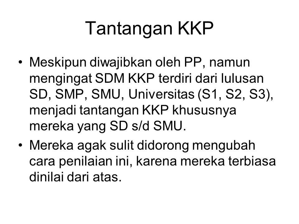 Tantangan KKP