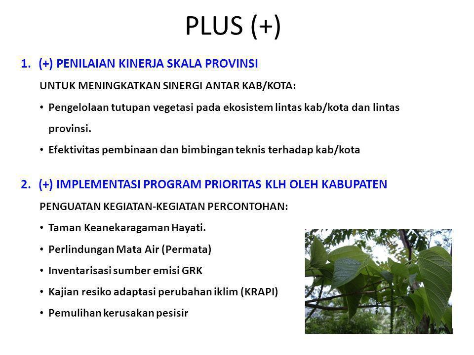 PLUS (+) (+) PENILAIAN KINERJA SKALA PROVINSI