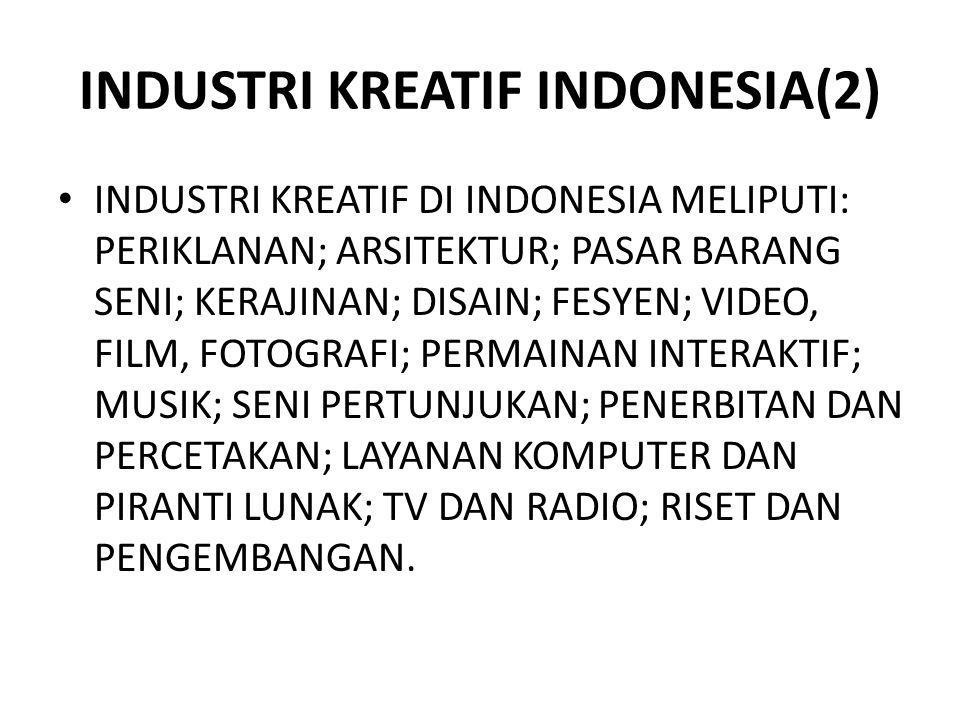 INDUSTRI KREATIF INDONESIA(2)
