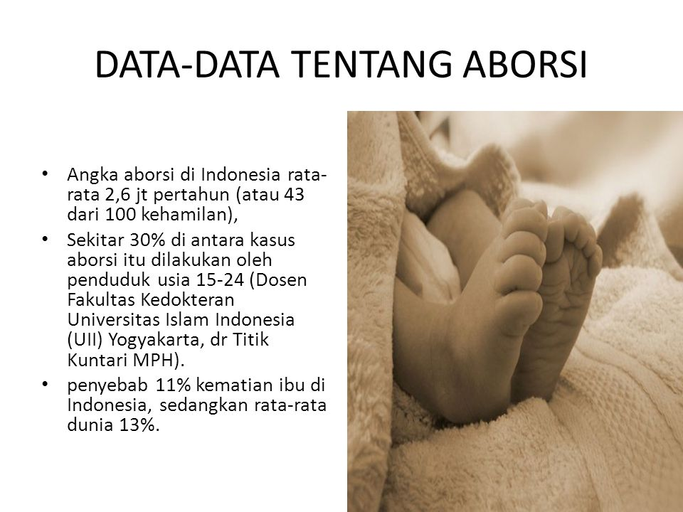 DATA-DATA TENTANG ABORSI