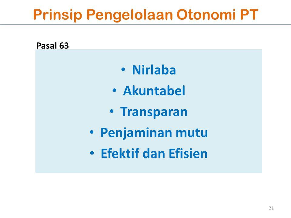 Prinsip Pengelolaan Otonomi PT