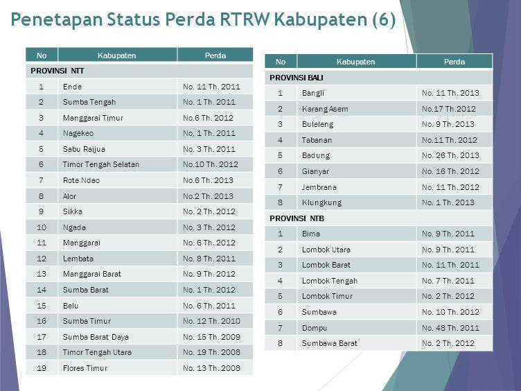 Penetapan Status Perda RTRW Kabupaten (6)