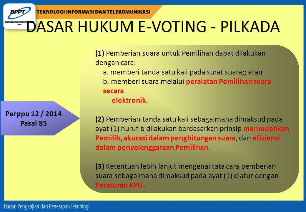 DASAR HUKUM E-VOTING - PILKADA