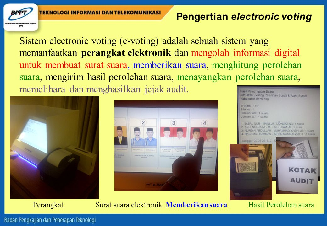 Pengertian electronic voting