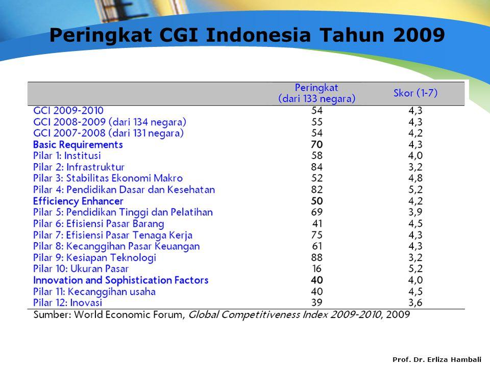Peringkat CGI Indonesia Tahun 2009