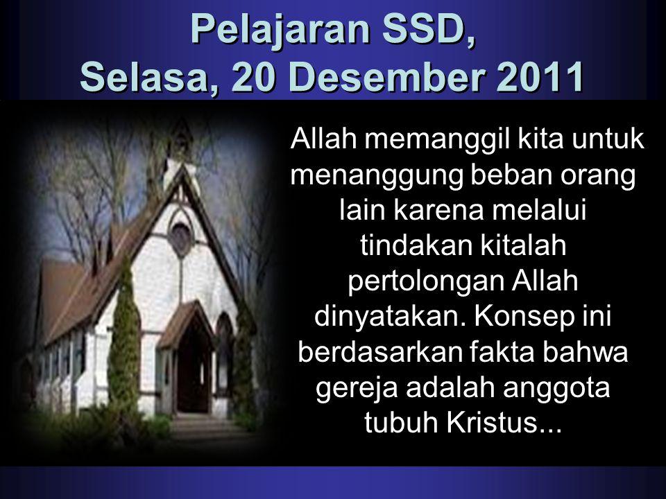 Pelajaran SSD, Selasa, 20 Desember 2011