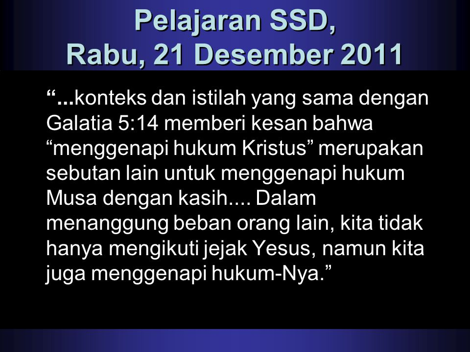 Pelajaran SSD, Rabu, 21 Desember 2011