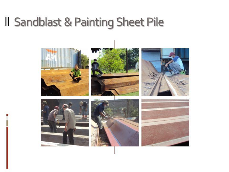 Sandblast & Painting Sheet Pile