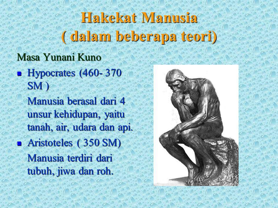 Hakekat Manusia ( dalam beberapa teori)
