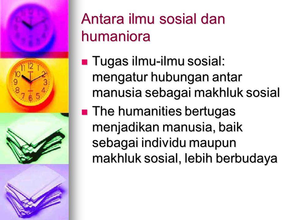 Antara ilmu sosial dan humaniora