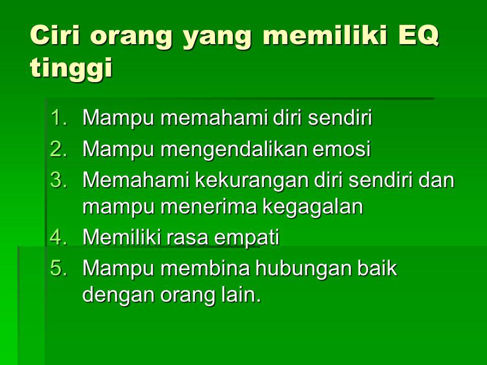 Ciri orang yang memiliki EQ tinggi