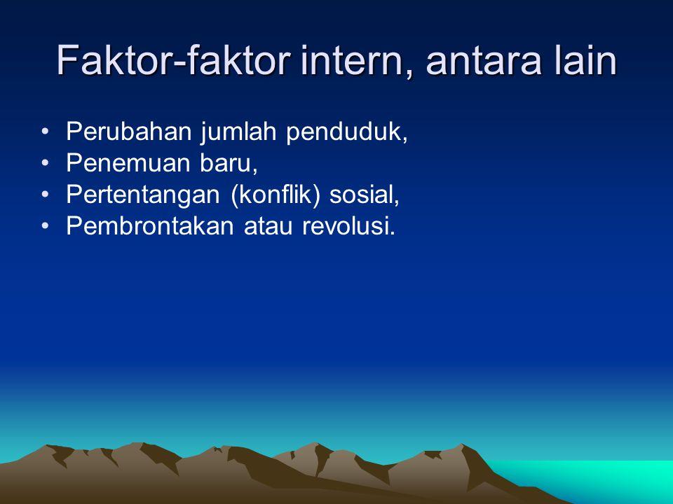 Faktor-faktor intern, antara lain