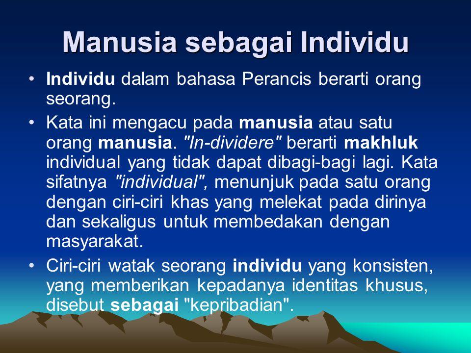Manusia sebagai Individu