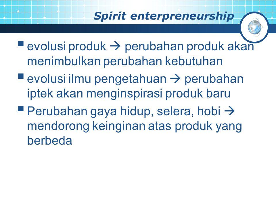 Spirit enterpreneurship