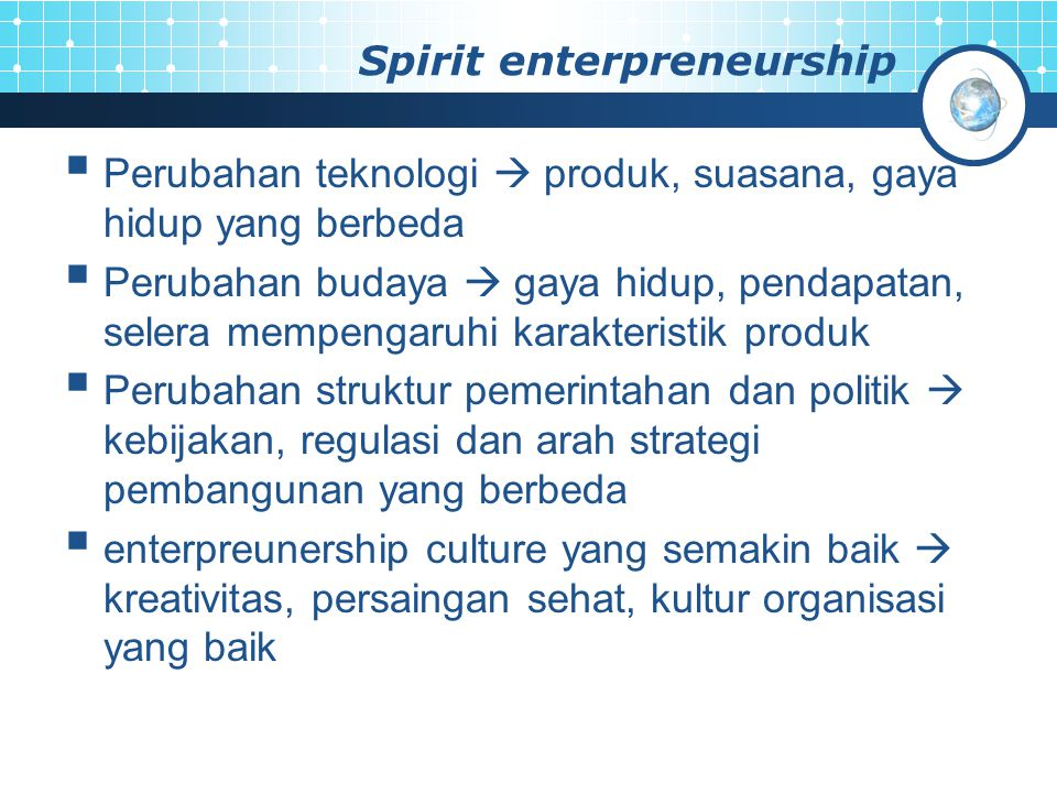 Spirit enterpreneurship