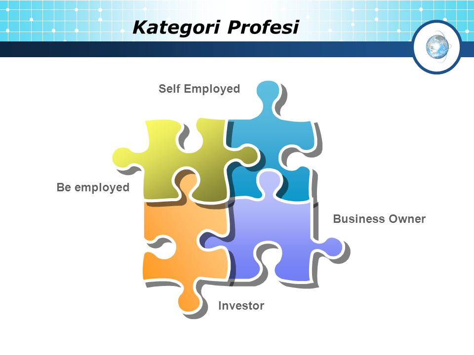 Kategori Profesi Self Employed Be employed Business Owner Investor